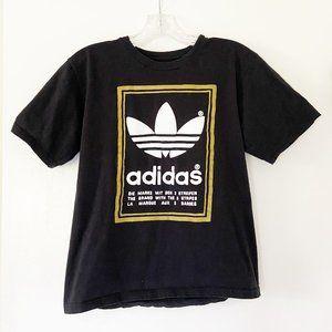 Adidas Black Classic Trefoil Mirror Tee T-Shirt